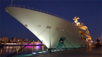 Superyacht in Barcelona