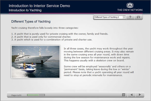 Introduction to Interior Service e-learning screenshot