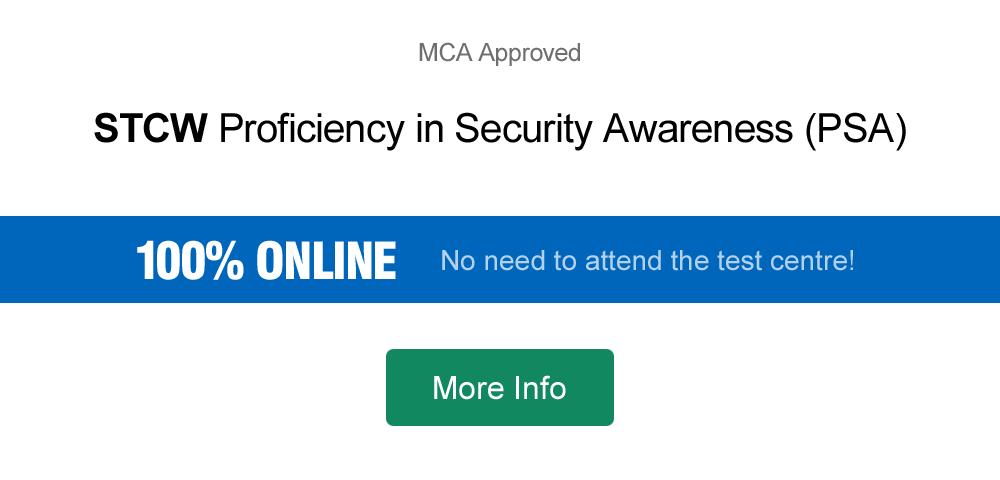 100% online STCW PSA course